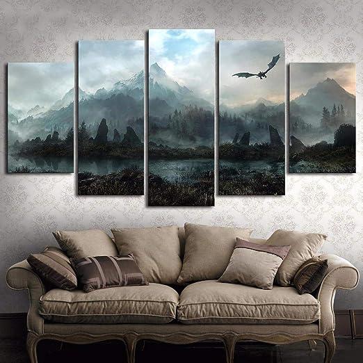 WJY Lienzo Arte de la pared Imágenes Decoración para el ...