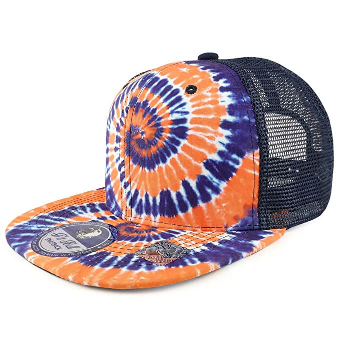 professional sale excellent quality outlet store Trendy Apparel Shop Tie Dye Printed Mesh Back Flat Bill ...