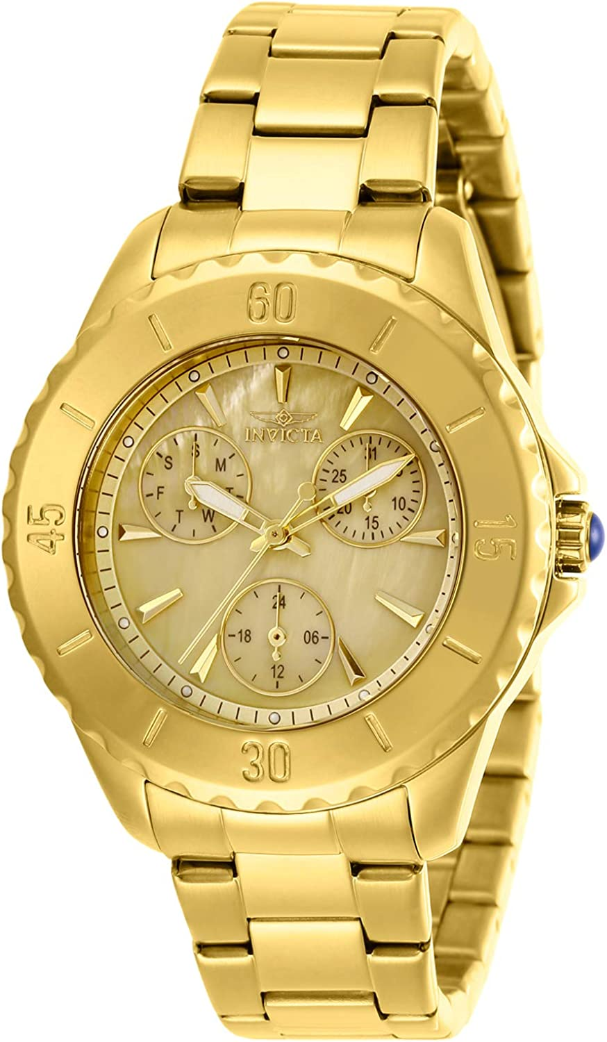 Invicta Women s Angel Quartz Watch with Stainless Steel Strap, Gold, 18 Model 29107