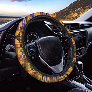 Fashionable Car Accessories for Men Women Horeset Native Tribal Style Steering Wheel Cover Universal Steering Wheel Cover 15 inch