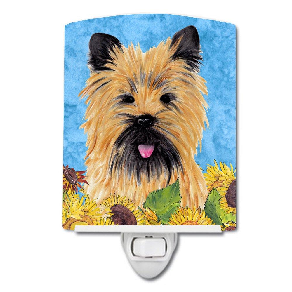 Caroline's Treasures Cairn Terrier in Summer Flowers Night Light, 6'' x 4'', Multicolor