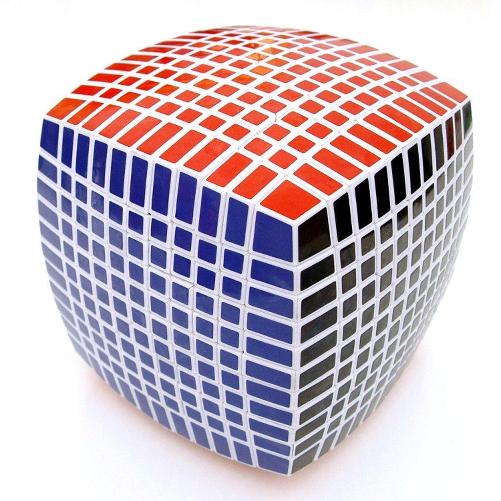 Makarine Inspirational 11x11x11 magic cube puzzle 11x11 Toy White speed rare twist game by Makarine