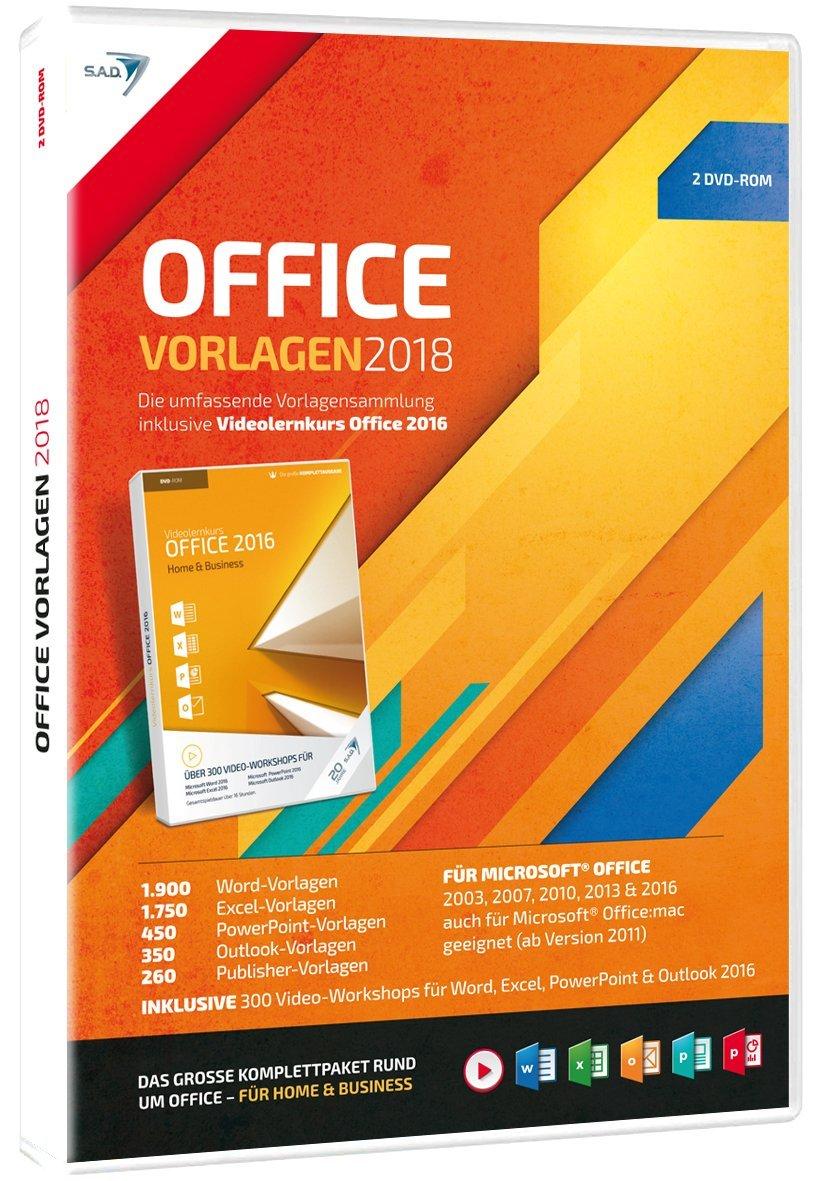 S.A.D Office Vorlagen (2018) mit Videolernkurs (2 CDs): Amazon.de ...