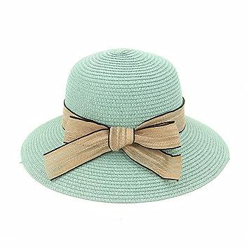 LOF-fei Mujer Verano Sombrero para el Sol Playa de Pescadores de Mariposas  ala Ancha 10ab5250238