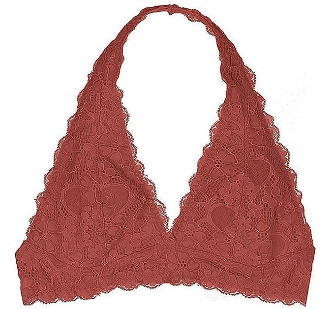 564c57ca132f9 Youmita Hosanna World Floral Lace Halter Bra Bralette (Large