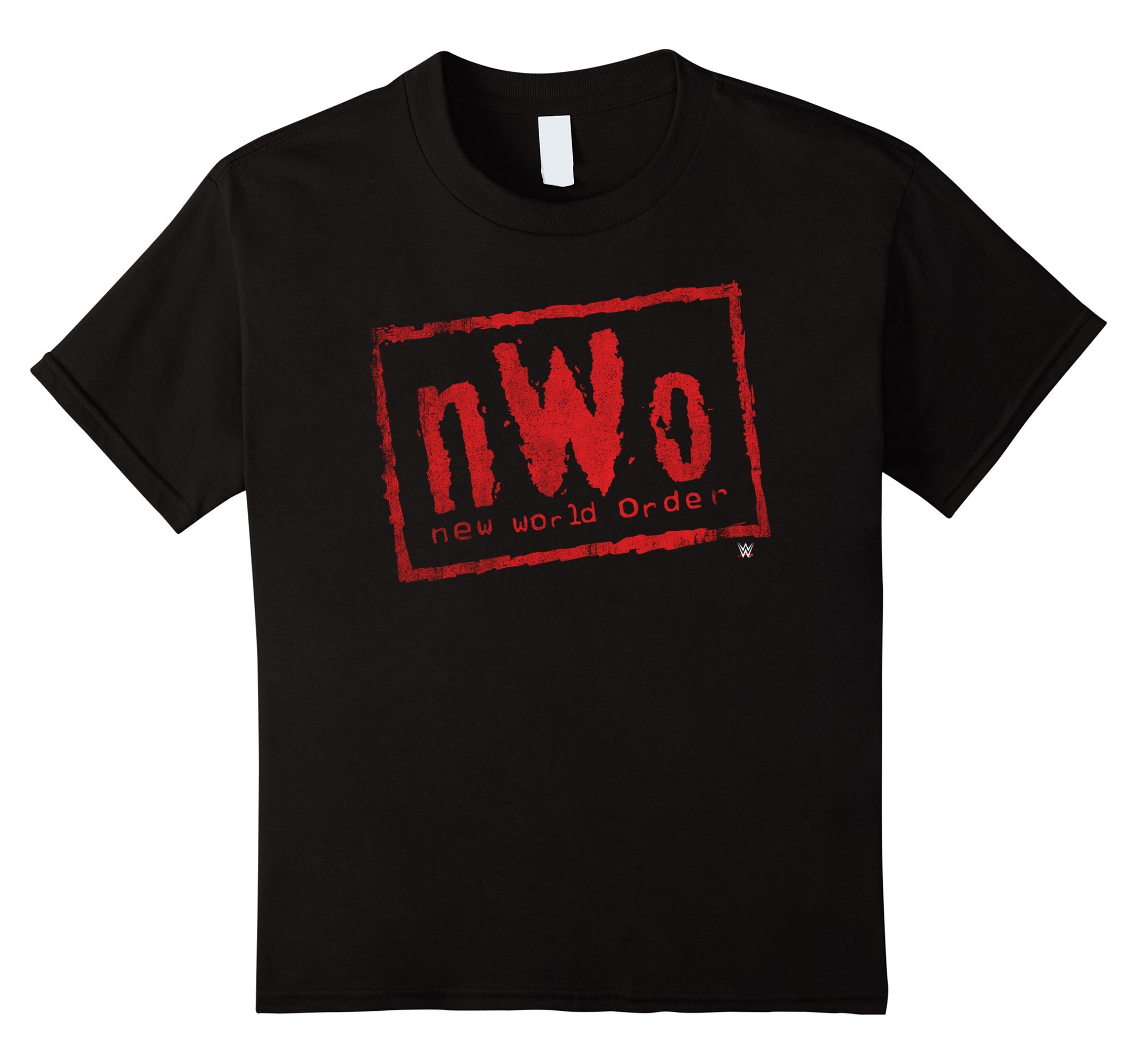 Kids nWo New World Order WWE Wrestling Logo Graphic T-Shirt 8 Black by WWE