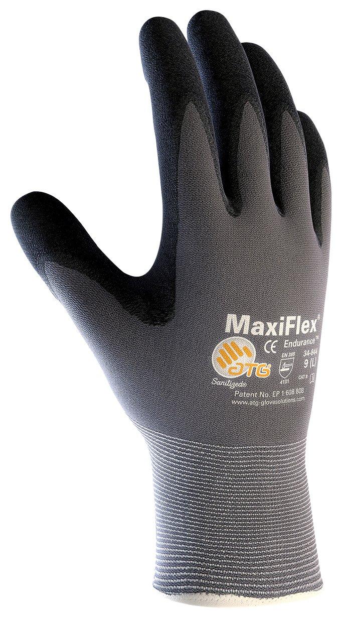 ATG 34-844/M MaxiFlex Endurance - Nylon, Micro-Foam Nitrile Grip Gloves - Black/Gray - Medium - 12 Pair Per Pack PIP