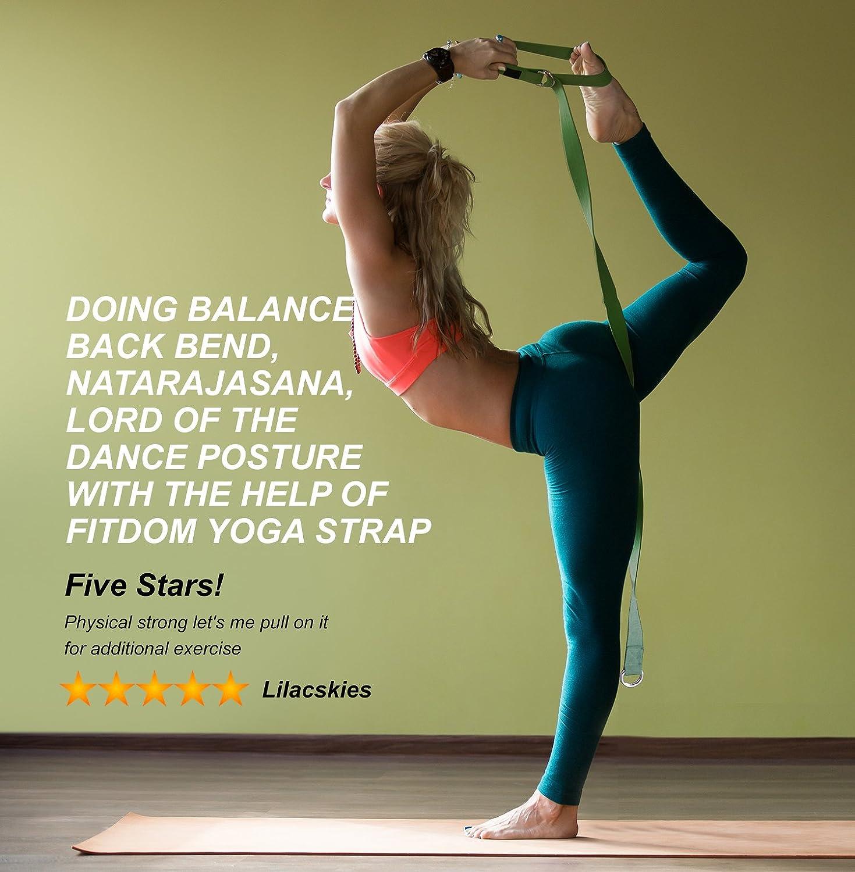 d4ba6b798a 2-in-1 Premium Lightweight Yoga Stretch Strap Belt & Mat Carrier ...