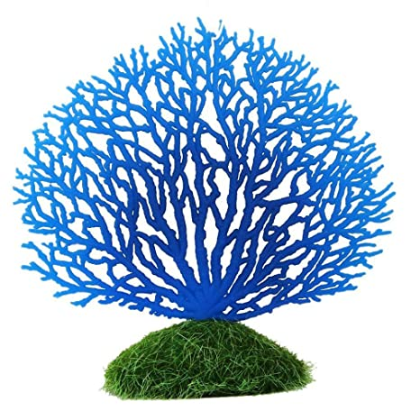 JinZhiCheng - Coral Artificial de Silicona para decoración de Acuario, pecera, Color Azul