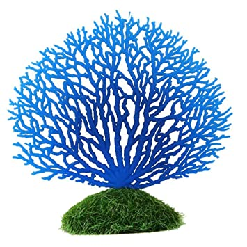 JinZhiCheng - Coral Artificial de Silicona para decoración de Acuario, pecera, Color Azul: Amazon.es: Hogar