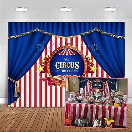 Mehofoto Zirkus Foto Hintergrund 7x5ft Rosa Und Weiß Kamera