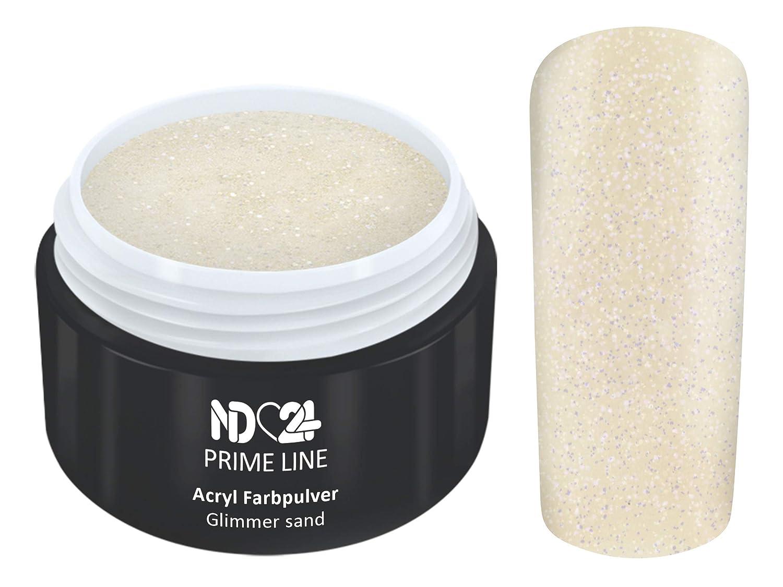 5G - PRIME LINE - ACRYL FarbPulver GLIMMER BEIGE BRAUN - Feinstes FARB Acryl-Puder Acryl-Pulver Acryl-Powder - STUDIO QUALITÄT nd24