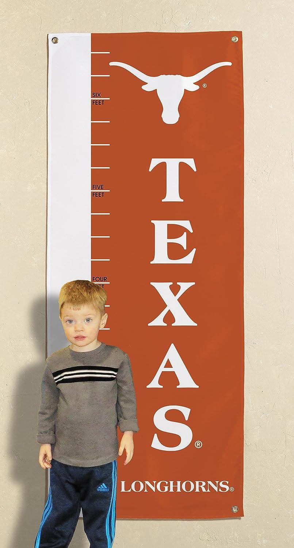 Orange NCAA Texas Longhorns Growth Chart Banner