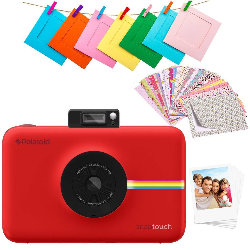 Polaroid SNAP Touch 2.0 – 13MP Portable Instant Print Digital Photo Camera w/Built-in Touchscreen Display, Red C&A Marketing (Inc) POL-STRAMZ