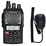 Wouxun UVd1P 4m/2m 66–88/136–174MHZ Portable Bos Tonruf I Ham Radio Dual Band PMR Handheld Radio with Remote Speaker Microphone