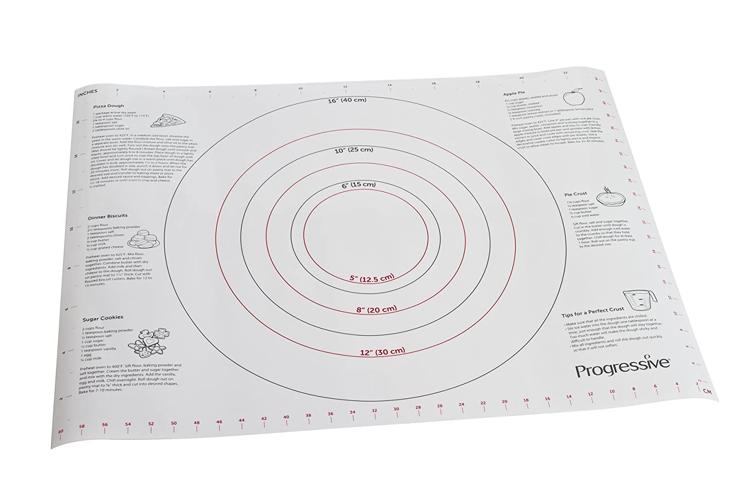Prepworks from Progressive International BMA-20 Pastry Mat, 24-Inch by 18-Inch