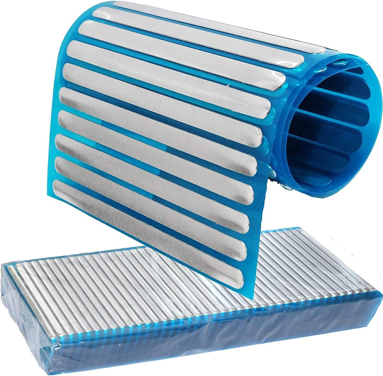 Nose Wire Aluminum Strips Metal Nose Clips Nose Bridge Flat Clinging Metal Bracket for Sewing Crafts Nose Bridge 100PCS