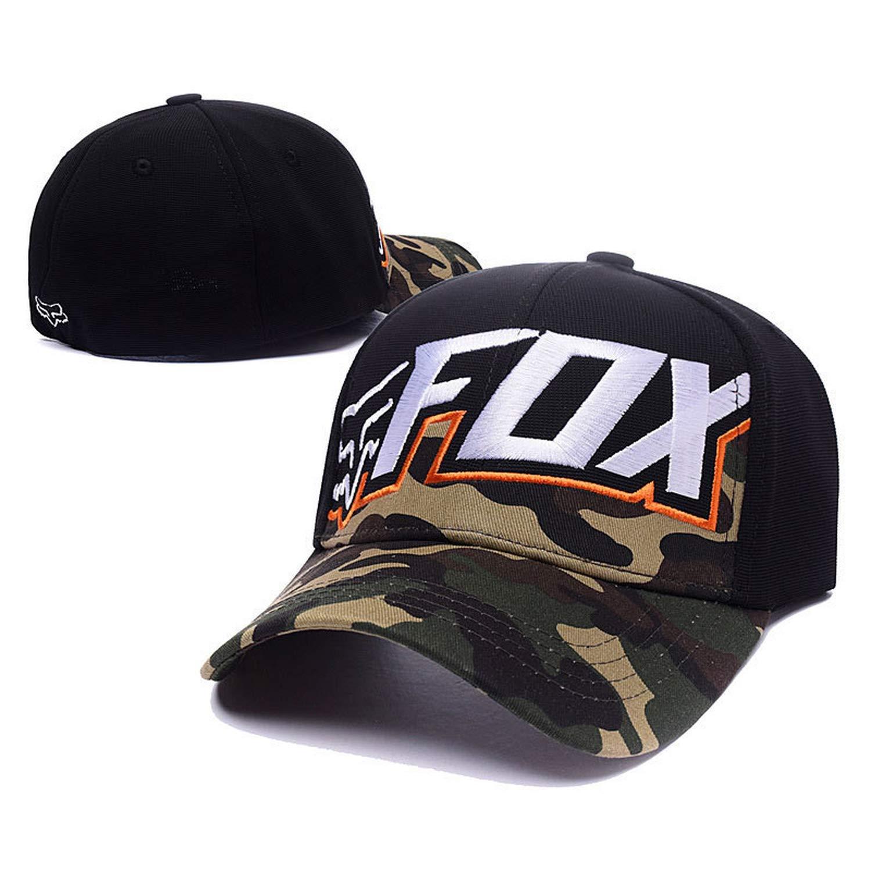 Fashion Fox Baseball Cap Women Men Motor Sports Hat Unisex Cartoon Pattern Embroidery Caps Hip Hop Hats CP0273