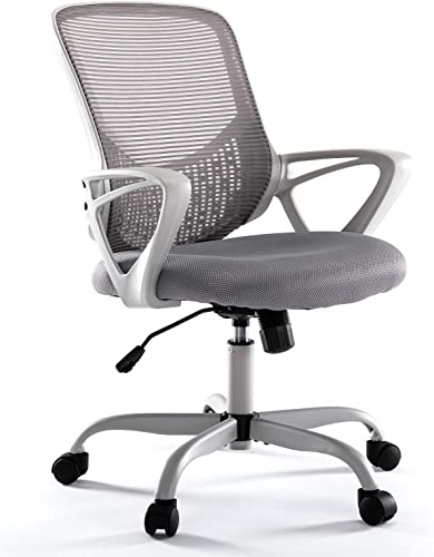 Rimiking Ergonomic Computer Desk Task Lumbar Support Mesh Office Chair