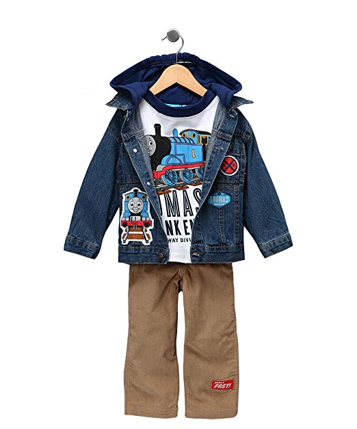 NEW  BOYS 4T THOMAS AND FRIENDS TRAIN  Vest Jeans and Shirt set
