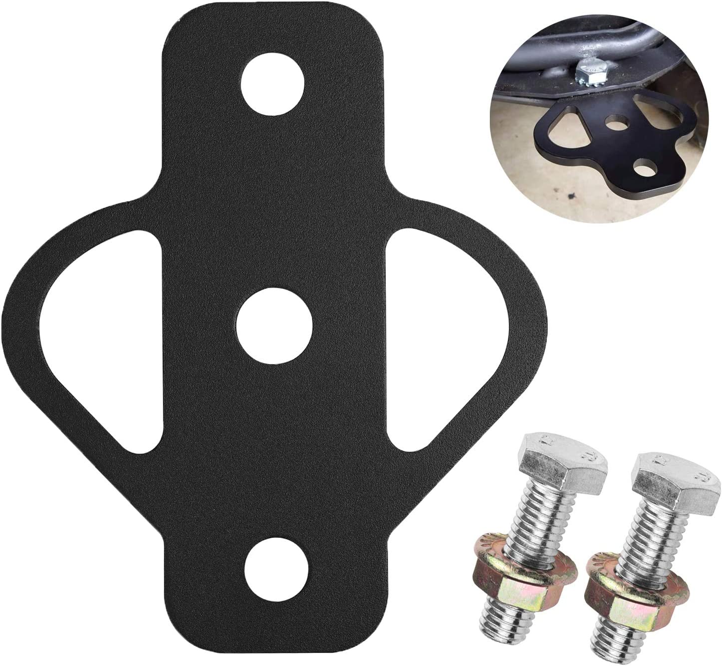 3-Way Trailer Hitch Heavy Duty Hitch Plate Adapter High Strength Steel Hitch Mount with Bolt for ATV Lawn Mower Golf Cart Yard Cart Garden Tractor Flat Towing Tow Ball Mount
