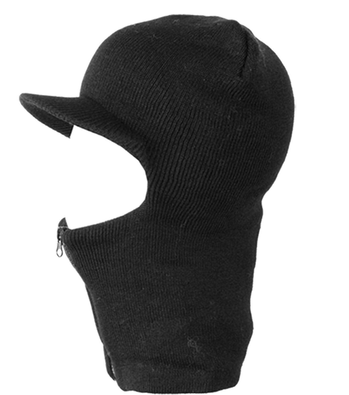 51d1d0ebdcf Zipper Radar Ski Mask Full Face Visor Winter Beanie Hat Cap Mens Women  Balaclava msk2140 at Amazon Men s Clothing store