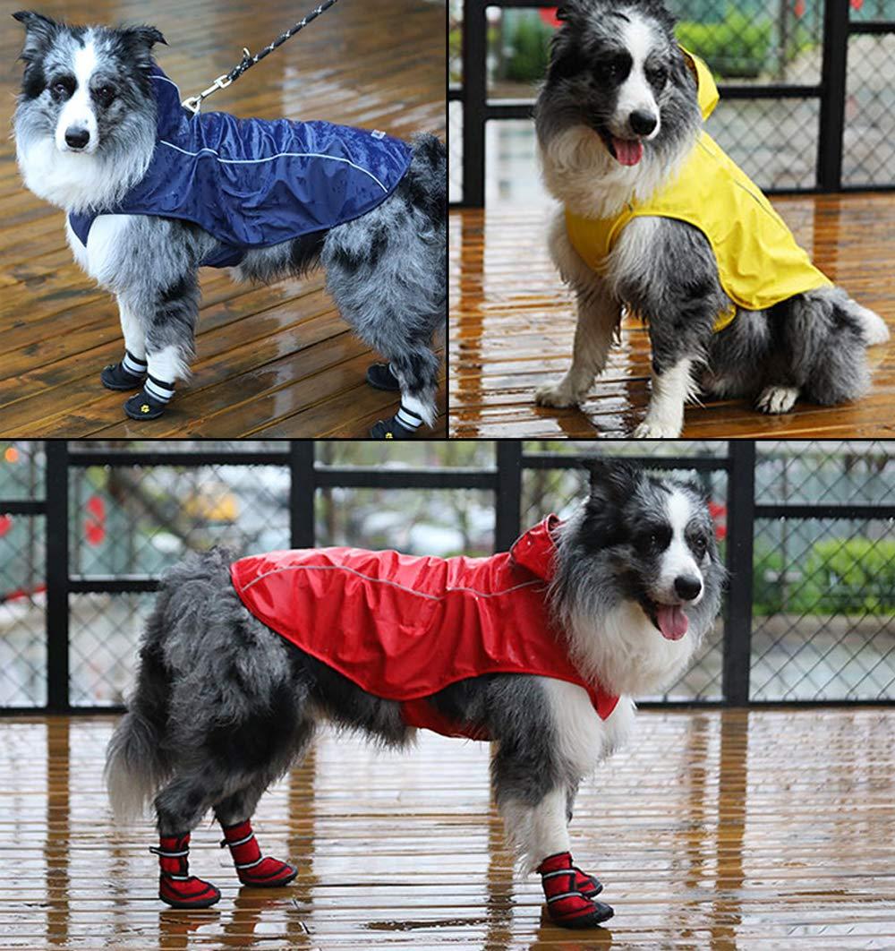 OSPet Dog Raincoat Waterproof Windproof Lightweight Dog Coat Jacket Reflective Rain Jacket with Hood Vest Harness for Small Medium Large Dogs by OSPet (Image #8)