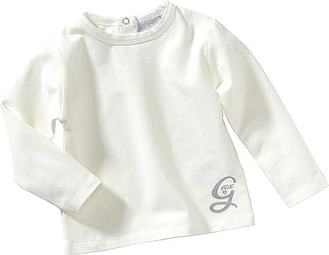 Geox - Camiseta para niña blanco de 94% algodón 6% elastano, talla ...