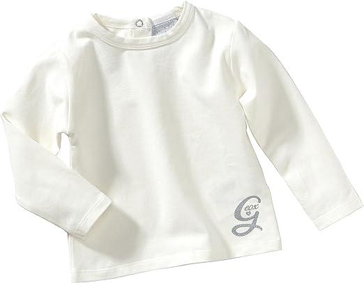 Geox - Camiseta para niña blanco de 94% algodón 6% elastano, talla: 98cm (3-4 años): Amazon.es: Bebé
