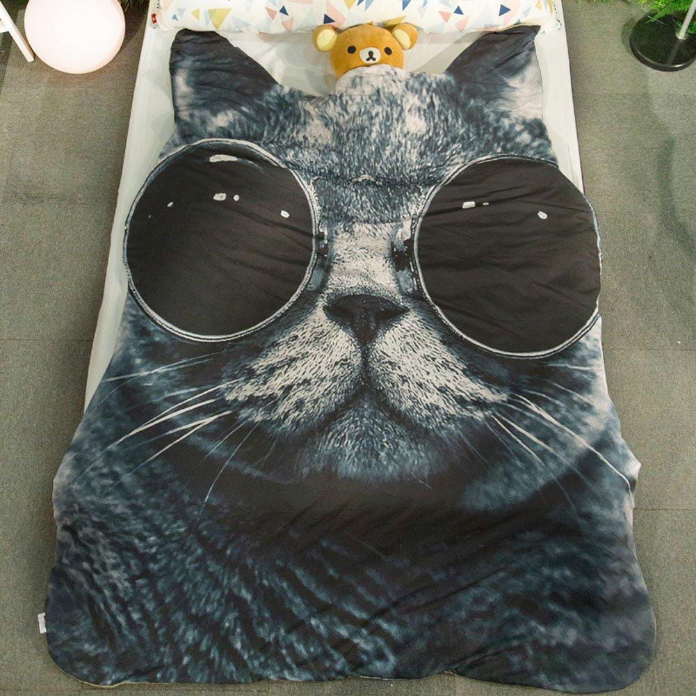 Amazon.com: Bonita manta con forma de gato para el hogar y ...