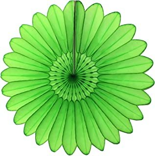 product image for 6-Pack 18 Inch Tissue Paper Hanging Fanburst (Lime)