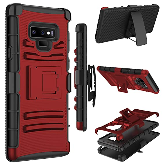best service 1681b 17144 Galaxy Note 9 Case, Zenic Heavy Duty Shockproof Full-body Protective Hybrid  Case with Swivel Belt Clip and Kickstand for Samsung Galaxy Note 9 / ...