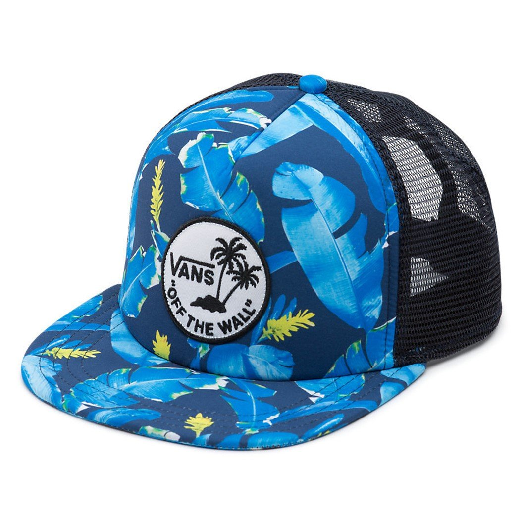 59293403ebda36 Amazon.com  Vans Wall Men s Surf Patch Trucker Hat Cap - Dress Blues Bonsai  Leaf  Shoes