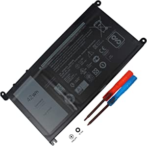 WDX0R WDXOR Battery Compatible with Dell Inspiron 13 7378 7368 5368 5378 5379 15 7560 7569 7570 7579 5565 5567 5568 5578 17 5767 5765 5770 14 7460 3CRH3 T2JX4 FC92N CYMGM