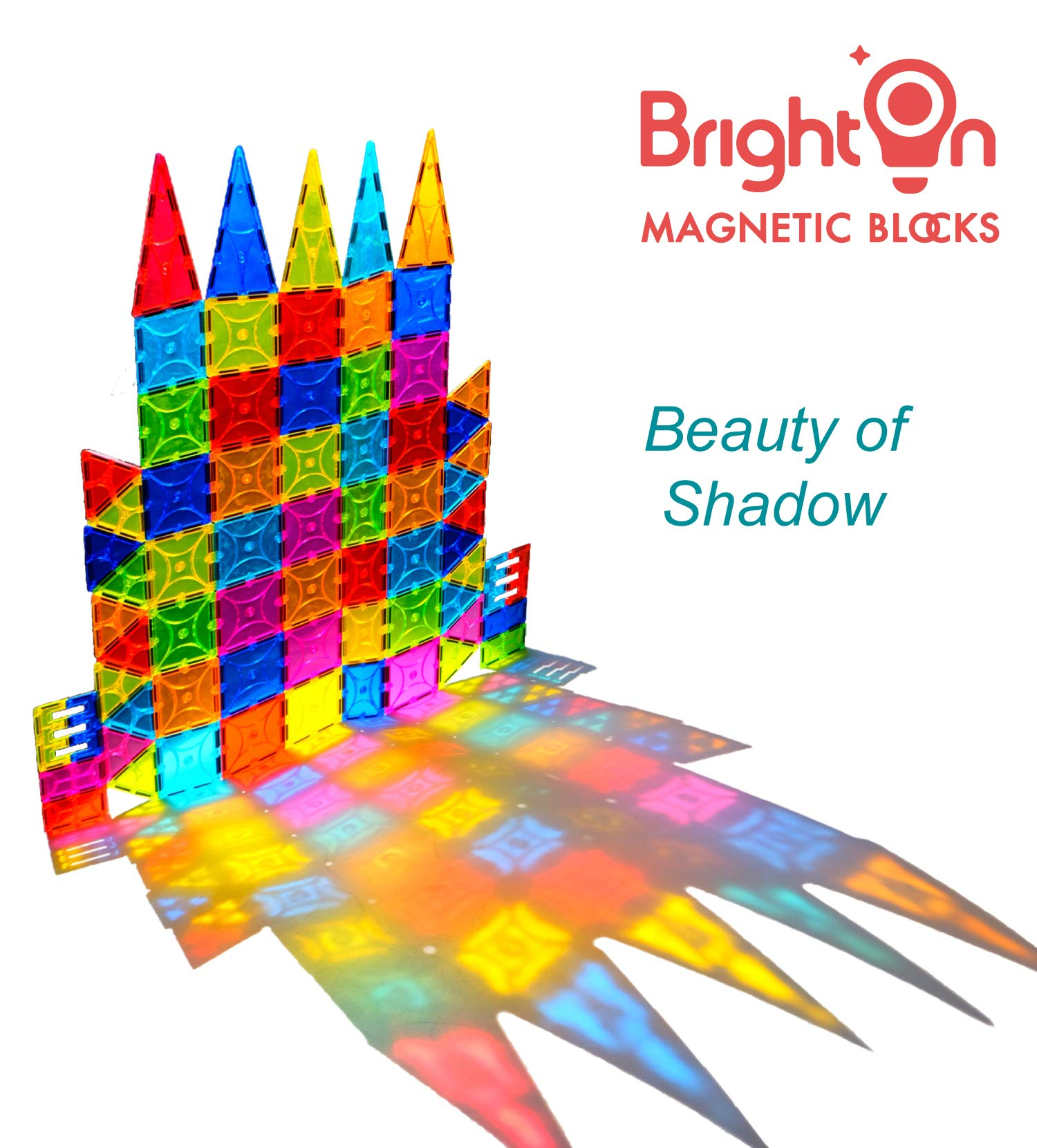 BrightOn Educational Kids Toys Magnetic Building Blocks, Creative Toys 3D Magnetic Blocks for Kids, Imagination Magnets Building Tiles for Children 105Pcs by BrightOn (Image #2)