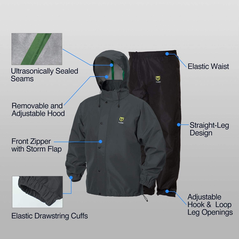 TideWe Rain Suit Breathable Waterproof Durable Sport Rainwear