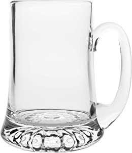 Barski - European Quality -Handmade Glass - Large Clear Mug/Tankard - with Handle - 24 oz. - Made in Europe