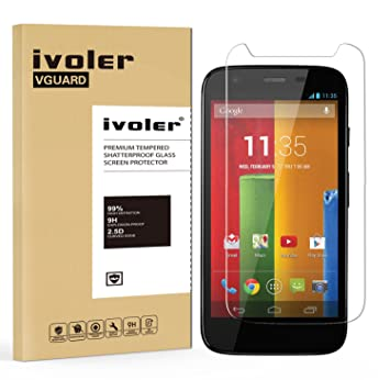 926349dce57 iVoler Protector de Pantalla para Motorola Moto G 2013 Edition (1st Gen    G1)