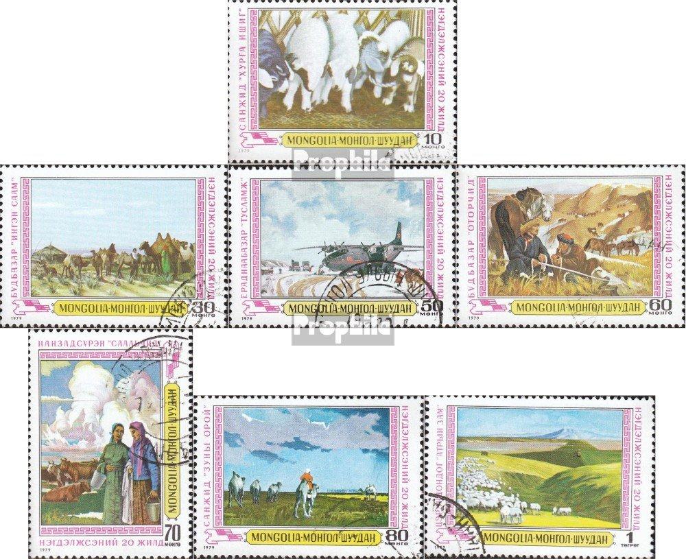 1979 Gem/älde mongolischer Maler kompl.Ausg. Prophila Collection Mongolei 1222-1228 Malerei Briefmarken f/ür Sammler
