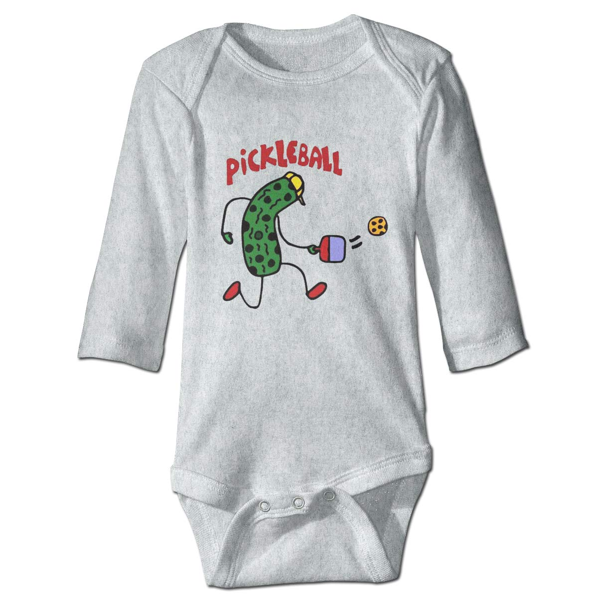 Olyha Baby Long Sleeve Pickle Playing Pickleball Onesies Bodysuit Fashion Romper Creeper