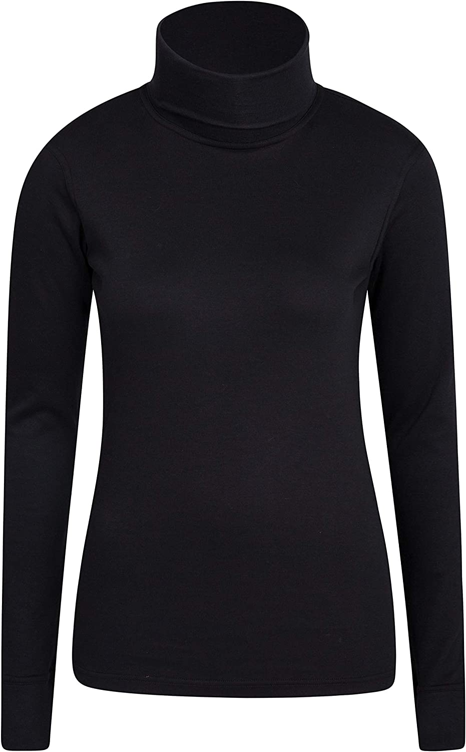 Lightweight Quick Drying with Fitted Sleeves Mountain Warehouse Meribel Womens Roll Neck Top Ideal for Winter Breathable 100/% Combed Cotton Thermal Baselayer