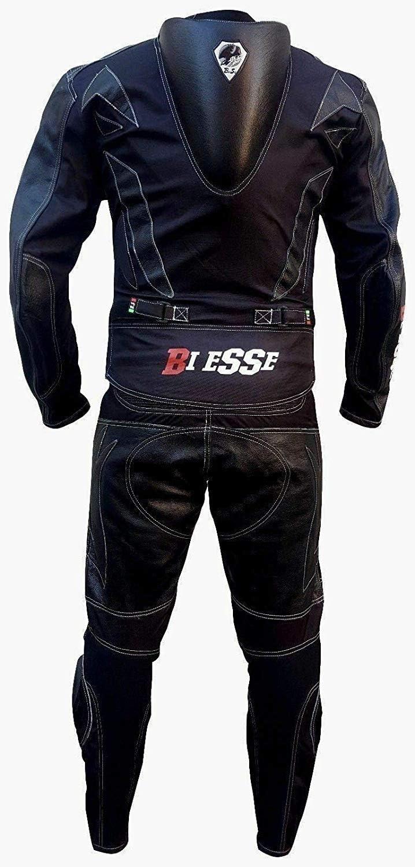 tailles XS r/églable noir//bleu noir//rouge blanc//rouge 4XL avec protections certifi/ées CE XS bleu//noir Biesse Combinaison moto adulte en cuir et tissu divisible en 2 pi/èces veste et pantalon