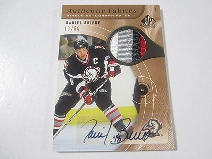 Daniel Briere 05-06 SP Game Used Authentic Fabrics Auto 13 50 ... 8646cf4ae