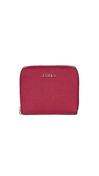 Cartera Furla Babylon S en piel saffiano color rojo rubí: Amazon.es: Ropa y accesorios