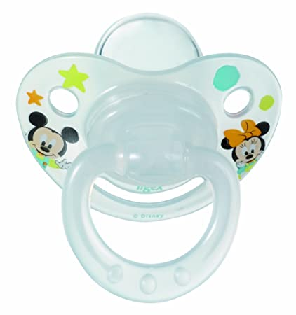 Tigex 80600481 - Pack de 2 chupetes fisiológicos con diseño Disney para niños de 6 meses en adelante