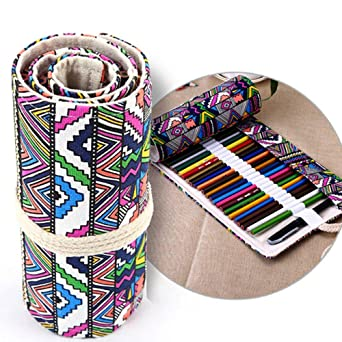 Estuche para lápices de estilo étnico con 36 agujeros para pintar, color aceitoso y plomo, 36 colores: Amazon.es: Industria, empresas y ciencia