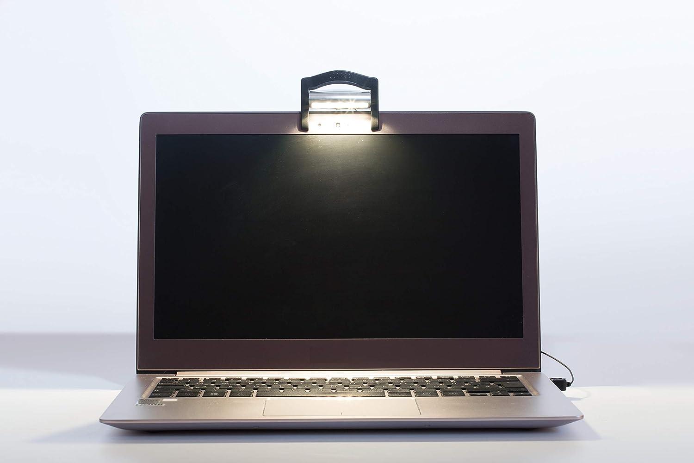 Lampada led a molletta con collegamento usb per pc notebook o