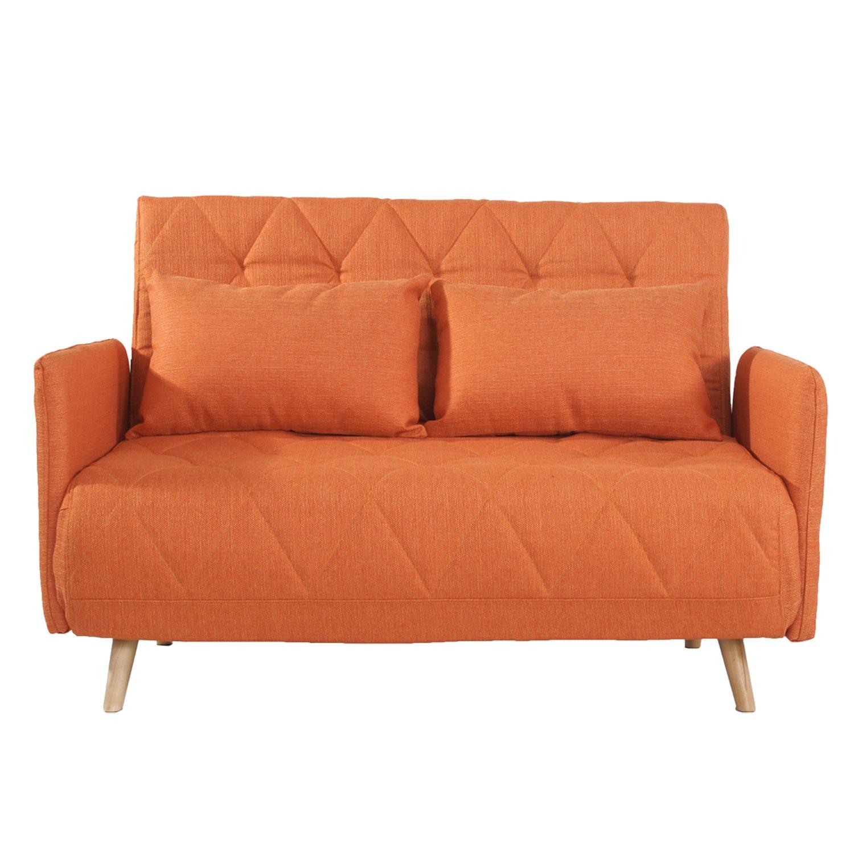 Fresh orange sofa Bed