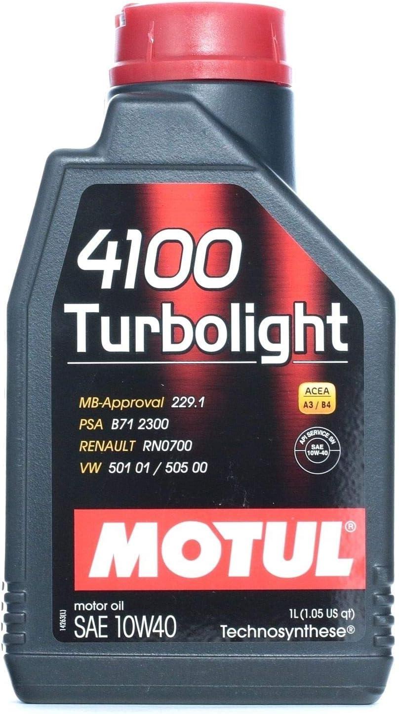 MOTUL 102774 4100 turbolight 10 W-50 de 40, 1 L: Amazon.es: Coche y moto