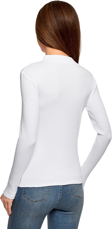 oodji Ultra Mujer Su/éter B/ásico de Cuello Alto de Algod/ón